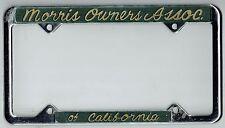 RARE N.O.S. Morris Owners Association Of California Vintage License Plate Frame