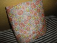 BETTER HOMES VINTAGE TRIBECA FLANNEL FLORAL PINK GRAY CORAL FULL FLAT SHEET