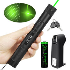532nm 303 Green Laser Pointer Pen Visible Beam Light +18650 Battery +Charger USA