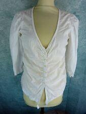 COP COPINE Haut chemisier  Taille 40 Fr - Modèle ROSE - Blanc
