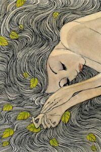 Daydream -Art Decoration -Poster Art Portrait -Canvas Print -Poster Print