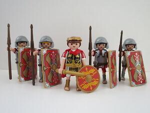 Playmobil 5 Roman Soldiers, Caesar, Greek army, history, Romanos, Romer, lion