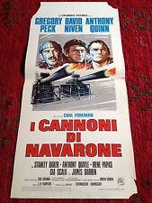 I Cannoni Di Navarone locandina poster The Guns of Navarone Gregory Peck Quinn
