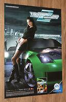 Need for Speed Underground 2 NFS rare Promo Poster 59x42cm PS2 Xbox Gamecube