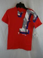 New Youth Boys MLB Texas Rangers T-Shirt Majestic Logo T-Shirt Red Size S