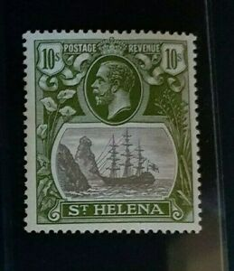 ST. HELENA 1922 KG V 10s  SG 112 Sc 93 MLH with light gum toning