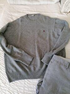 Burberry London Pullover Gr.XXL 100% Wolle Rundhals klassisch