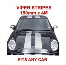 vinyl self adhesive viper stripes MATT BLACK 150mm x 4m will fit any car