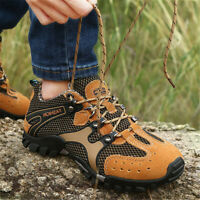 US Men's Sport Shoes Hiking Trail Trekking Athletic Water Fisherman Mesh  * D