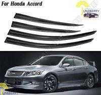 Window Visor Shade Sun Guard For Honda Accord 4 Door 2008 2009 2010 2011 2012