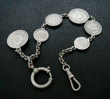 Fob Chain, With Coin Medallions 19th Century German Pocket Watch
