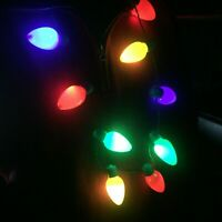 Light-Up Christmas Light Necklace with Flashing Bulbs