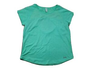 Under Armor Women's Green Vented Heat Gear Fitted Fitness Top Medium M Open Back