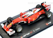 FERRARI F1 1:32 RAIKKONEN #7 VETTEL #5 Die Cast Racing Toy Car Formula One Model