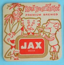 "Jax Beer Early 1960s 3 1/2"" x 3 1/2"" Coaster...Jackson Brewing Co., New Orleans"