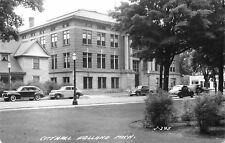 Holland Michigan~City Hall~House Next Door~Goodyear Tires~1930-40 Cars~RPPC