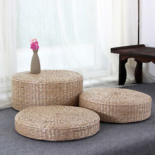 1 x Handcrafted Japanese Style Breathable Padded Knitted Straw Flat Seat Cushion