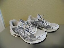 ASICS GEL Women's Gray Pink Mesh Leather Sneakers Athletic Shoes Size 6.5
