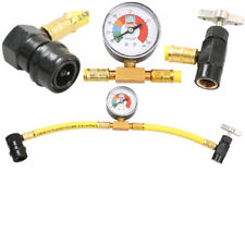 Car Air Conditioning Refrigerant Recharge Gas Pressure Gauge R134A Hose Valve