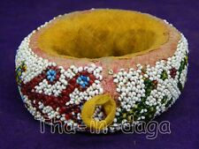 Ancien Anneau Perles Gujarat Repose Plat Ø=10cm H=3,5cm 90g Artisanat Inde 8