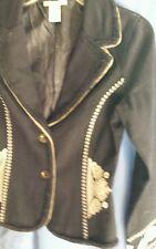 Ladies sz S NEW black blazer JACKET embellished embroidery CALIX Sale $19.99!
