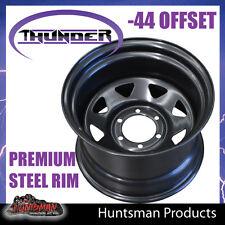 15x10 6 Stud Black Thunder Steel Wheel Rim -44 Offset. 6/139.7 PCD patrol etc