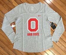 NEW Nike Ohio State University Buckeyes Womens Athletic Cut Tee T-shirt Top Sz L