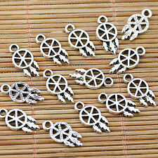 60pcs tibetan silver tone 7mm wide Hot Wheel design charms EF1572