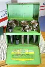 "Greenlee # 1440 Pipe Bit Set With Adapter & Coupling for 1/2"" to 2"" Pipes"