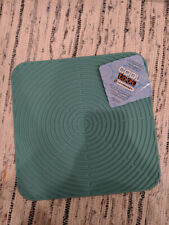"""Le Creuset Cool Mint Anti-Skid Mat Silicone Trivet Surface Protector 11"""" x 11"""""""