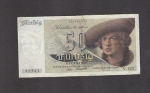 50 DEUTSCHE MARK FINE- BANKNOTE FROM GERMANY 1948 PICK-14  RARE