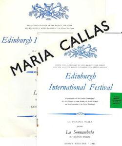 1957 Maria Callas Edinburgh Festival opera programme Sonnambula Piccola Scala