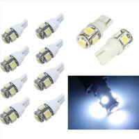 10 Bombillas T10, 5050 5SMD 168 194 W5W, Iluminacion Coche T10, Blanco frio