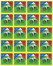 Albert Hofmann bike ride-tipo Blotter-Psychedelic Goa acid artwork