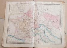CARTE GEOGRAPHIQUE ANCIENNE: L'Europe CENTRALE III (garantie authentique.19 eme)