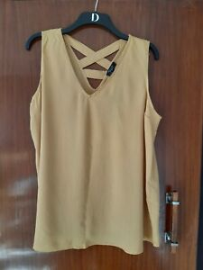 New Look Maternity Top Size 16 Mustard New With Tags