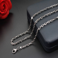 Man Women 316L Stainless Steel 2mm/3mm/4mm/5mm Silver Oval Link Chain Necklace