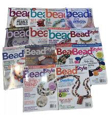 BEAD STYLE Magazine Mixed Lot Of 14 Project Beading Craft Jewelry 2003-14