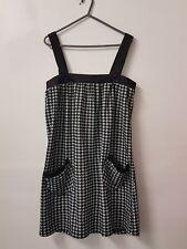 NWT FILO Mini Herringbone Shift Dress in Black/White Size M RRP$60