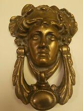 Brass Art Nouveau Door Knocker, so beautiful use it as wall art. 1920-30s era