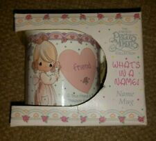 """Precious Moments Collection Whats In A Name - """"Friend"""" Ceramic Mug Cup Enesco *"""