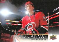 18/19 UPPER DECK UD CANVAS #C14 BRETT PESCE HURRICANES *59284