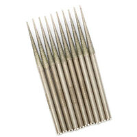 10Pcs Tapered Diamond Coated Grinding Head Rods Burrs For Stone Glass 120 Grit