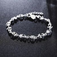 Rhinestone Jewelry Women Crystal Fox Cuff Bracelet Chain Bangle New Plated