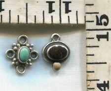 Gemstone Charms~Both For $12.99! Vintage Sterling Bracelet Charm~#82988~Two(2)