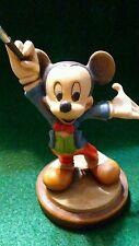 Anri Carved Wood Figurine Le 290/5000 Walt Disney Mickey Mouse Maestro