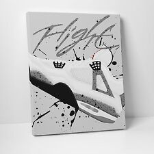 Nike Air Jordan White Cement 4's Gallery Canvas 11in x14in