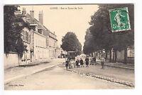 CPA  COSNE 58 -  RUE & ROUTE DE PARIS HABITANT & ENFANT 1914 ~A71