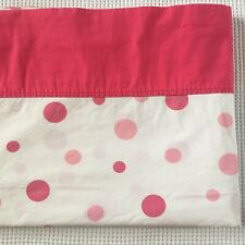 Springmaid Percale Pink Polka Dots Twin Set Flat Fitted Pillowcase Vintage 3 Pc