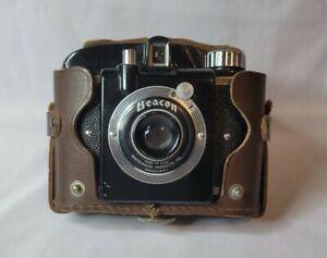 Vintage Bakelite  Beacon Camera with Leather Case